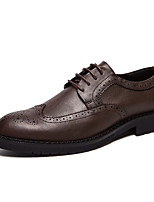 Недорогие -Муж. Комфортная обувь Полиуретан Осень На каждый день Туфли на шнуровке Черный / Коричневый