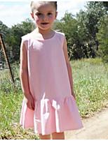Недорогие -Дети (1-4 лет) Девочки Горошек Платье Розовый