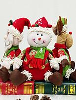 Недорогие -елочные украшения санта снеговик лось сидячее положение кукла подарок украшение креативный подарок