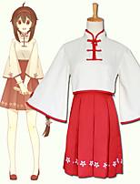 Недорогие -Вдохновлен Вокалоид Косплей Аниме Косплэй костюмы Японский Косплей вершины / дна Юбки / Кофты Назначение Жен.
