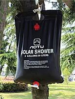 Недорогие -солнечный кемпинг сумка для душа, портативный солнечный душ сумка для кемпинга 5 галлонов сверхлегкий ПВХ черный мешок для летнего кемпинга на открытом воздухе походы