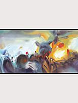 Недорогие -Отпечаток в раме Набор в раме - Абстракция Полистирен Масляные картины Предметы искусства
