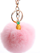 Недорогие -Брелок Шарообразные корейский Милая Мода Модные кольца Бижутерия Черный / Светло-синий / Светло-Розовый Назначение Повседневные