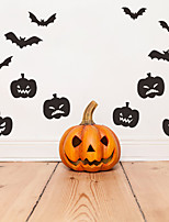 cheap -Halloween Party Halloween Decor Horror Ghost Halloween Pumpkin Wall Stickers Decorative Wall Stickers, PVC Home Decoration Wall Decal Wall Decoration / Removable