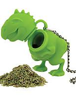 Недорогие -заварник для чая в форме динозавра многоразовый силиконовый ситечко для чая кофейный фильтр