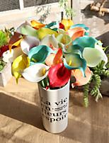 Недорогие -Искусственные Цветы 5 Филиал Классический европейский Пастораль Стиль Калла Вечные цветы Букеты на стол