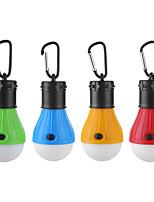 Недорогие -4шт 3 Вт водонепроницаемый / творческий / с регулируемой яркостью белого света на батарейках наружное освещение / бассейн / открытый свет кемпинга крюк портативный светодиодный свет палатки мини свет
