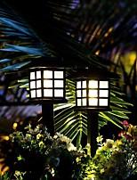 Недорогие -2шт небольшой фонарь 1 Вт газон водонепроницаемые / солнечные / новый дизайн теплый белый / RGB / белый 1,2 В наружное освещение / бассейн / двор 1 светодиодные шарики