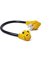 Недорогие -125 В, 50 А, штекер до 30 А, шт. Адаптер, электрический преобразователь, кабель - 60 см.