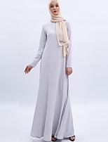 Недорогие -арабский Взрослые Жен. Косплей На каждый день Косплэй Kостюмы Арабское платье хиджаб Назначение Для вечеринок Halloween Ледяной шелк Хэллоуин Карнавал Маскарад Платье