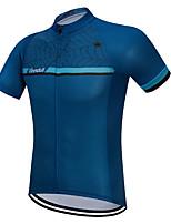 Недорогие -Vendull Муж. С короткими рукавами Велокофты Синий Велоспорт Джерси Верхняя часть Дышащий Быстровысыхающий Анатомический дизайн Виды спорта 100% полиэстер Горные велосипеды Шоссейные велосипеды Одежда