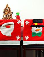 Недорогие -Накидка на стул / Декорации / Рождество Праздник / Семья Ткань Мультипликация / Для вечеринок Рождественские украшения