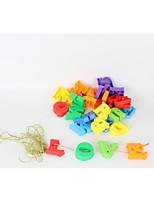 Недорогие -Конструкторы 1 pcs Буквы совместимый Legoing Для школы Ручная работа Взаимодействие родителей и детей Все Игрушки Подарок