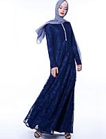 Недорогие -арабский Взрослые Жен. Косплей На каждый день Косплэй Kостюмы Арабское платье хиджаб Назначение Для вечеринок Halloween Кружево Полиэстер Хэллоуин Карнавал Маскарад Платье