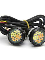 Недорогие -10шт орлиный глаз лампы 23 мм 12smd двухцветный белый желтый drl дневные ходовые огни источник света сигнал поворота лампы 12 В