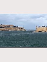Недорогие -С картинкой Роликовые холсты Отпечатки на холсте - Пейзаж Море Modern Репродукции