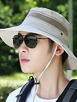 Недорогие -Универсальные Активный Классический Симпатичные Стиль Соломенная шляпа Шляпа от солнца Хлопок,Контрастных цветов Все сезоны Черный Военно-зеленный Красный