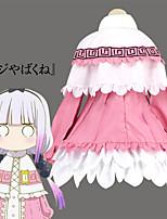 Недорогие -Вдохновлен Miss Kobayashi's Dragon Maid Косплей Аниме Косплэй костюмы Японский Косплей Костюмы Платье / Воротник-шаль Назначение Жен.