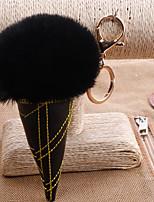 Недорогие -Брелок Мороженное корейский Мода Элегантный стиль Модные кольца Бижутерия Черный / Светло-Розовый / Белый Назначение Подарок Свидание