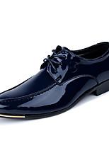 Недорогие -Муж. Официальная обувь Кожа Весна / Наступила зима Классика / Английский Туфли на шнуровке Для прогулок Нескользкий Черный / Синий / Для вечеринки / ужина