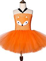 Недорогие -симпатичная лиса пачка платье наряд малыша сумасшедшее животное ник карнавал косплей костюм для детей