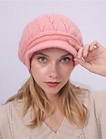 Недорогие -Жен. Классический Широкополая шляпа Акрил,Однотонный Зима Черный Винный Лиловый