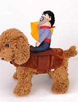 Недорогие -Собаки Инвентарь Одежда для собак Однотонный Коричневый Оранжевый Желтый Полиэстер Костюм Назначение Зима Праздник Хэллоуин