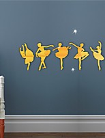 cheap -Ballet Girls  Wall Stickers, Acrylic Home Decoration Wall Decal Wall Decoration 5pcs