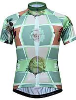 Недорогие -JESOCYCLING Цветочные ботанический Жен. С короткими рукавами Велокофты - Зеленый Велоспорт Джерси Дышащий Быстровысыхающий Анатомический дизайн Виды спорта 100% полиэстер / Эластичная / Задний карман