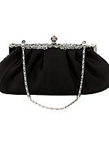 Недорогие -Жен. Полиэстер / Satin Вечерняя сумочка Сплошной цвет Черный / Белый / Лиловый