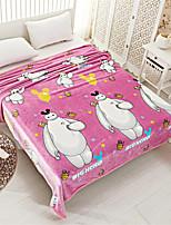 Недорогие -Одеяла, Цветочный принт / С принтом / Простой Полиэстер Мягкость удобный одеяла