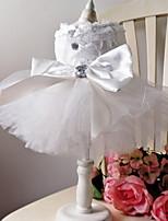 Недорогие -Собаки Инвентарь смокинг Одежда для собак Геометрический принт Белый Полиэстер Костюм Назначение Лето Мужской Свадьба