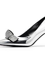 Недорогие -Жен. Обувь на каблуках На шпильке Заостренный носок Микроволокно Лето Черный / Золотой / Серебряный