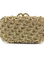 Недорогие -Жен. Кристаллы Сплав Вечерняя сумочка Геометрический рисунок Черный / Золотой
