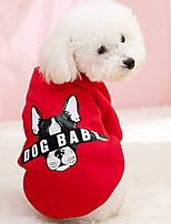 Недорогие -Собаки Инвентарь Одежда для собак Геометрический принт Коричневый Темно-синий Желтый Полиэстер Костюм Назначение Зима Праздник Хэллоуин