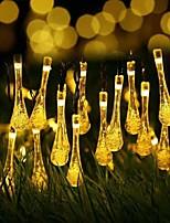 Недорогие -6 м 30led солнечный светодиодный сказочный свет падение света строка свадьба рождественская вечеринка открытый фестиваль в помещении
