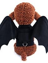 Недорогие -Собаки Инвентарь Крылья летучей мыши Одежда для собак Однотонный Черный Черный Полиэстер Костюм Назначение Зима Праздник Хэллоуин