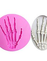 Недорогие -череп рука хэллоуин силиконовые формы помадка для украшения торта инструменты шоколадные конфеты gumpaste плесень