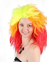 Недорогие -Косплей Овальные Rock Косплэй парики Жен. 16 дюймовый Синтетика Разноцветный Желтый Аниме