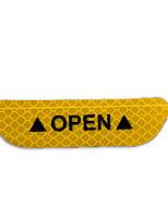 Недорогие -4 шт. / Комплект дверных стикеров безопасности ПВХ светоотражающая лента предупреждающие знаки дверные наклейки аксессуары люминесцентная дрель
