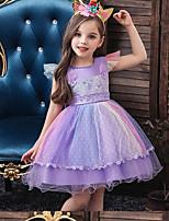 Недорогие -Дети (1-4 лет) Девочки Радужный Платье Белый