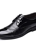 Недорогие -Муж. Официальная обувь Микроволокно Весна / Осень Деловые Туфли на шнуровке Для прогулок Нескользкий Черный / Для вечеринки / ужина