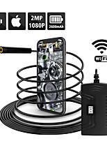 Недорогие -1080p полужесткий Wi-Fi камера осмотра 2.0-мегапиксельная HD водонепроницаемый змея камера с 6 светодиодов для Android Android MacBook OS