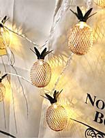 Недорогие -1,5 м Гибкие светодиодные ленты / Гирлянды 10 светодиоды Тёплый белый Творчество / Новый дизайн / Для вечеринок Аккумуляторы AA 1шт / IP65