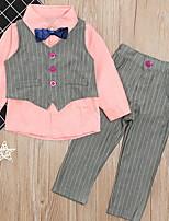 Недорогие -Дети (1-4 лет) Мальчики Классический Однотонный Длинный рукав Набор одежды Белый