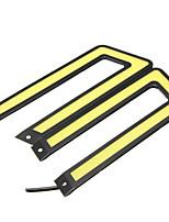 Недорогие -U-образный початок светодиодные дневные ходовые огни drl вождение автомобиля противотуманная фара 6000k белый 2шт
