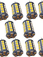 Недорогие -10шт 4 Вт светодиодные фонари bi-pin 400 лм g4 gy6.35 30 светодиодные шарики smd 5050 теплый белый белый 9-30 В