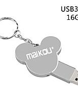 Недорогие -maikou 16 г металл серебро usb3.0 флэш-накопитель cute u дисковод перьевой флеш-накопитель флэш-карта памяти
