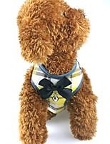 Недорогие -Собаки Коты Животные Поводки Одежда для собак Бант Желтый Красный Синий Полиэстер Костюм Назначение Лето С поводка