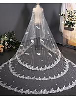 Недорогие -Один слой Винтаж Свадебные вуали Фата для венчания с Отделка 137,8 в (350cm) Кружева / Тюль